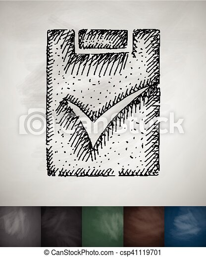 assignment turned on icon. Hand drawn vector illustration - csp41119701