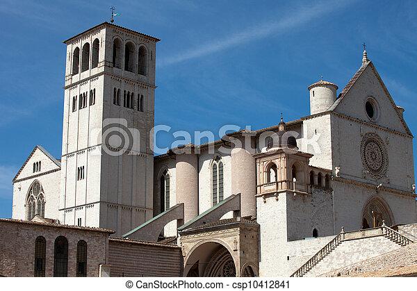 assisi, イタリア, バシリカ, 聖者, francis - csp10412841