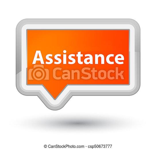 Assistance prime orange banner button - csp50673777