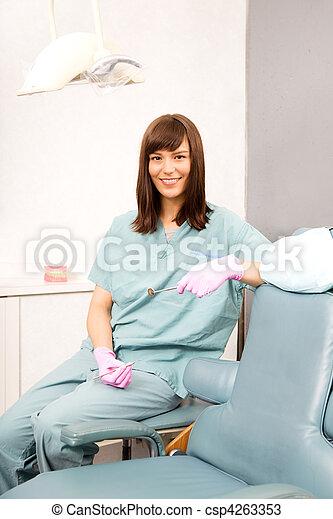 assistent, dental - csp4263353