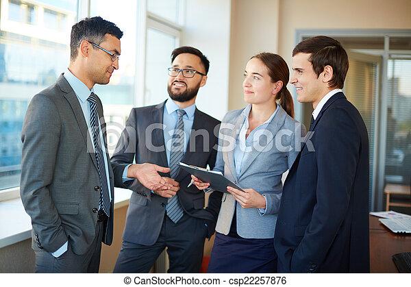 associé, écoute, business - csp22257876