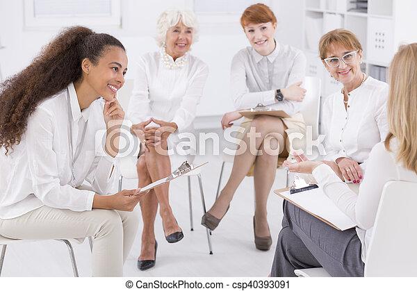 Association of business women - csp40393091