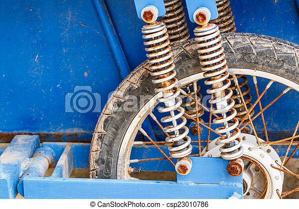 assorbitore, scossa, motocicletta - csp23010786