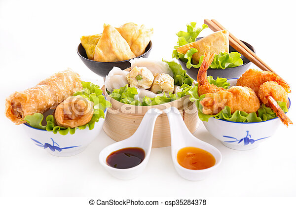 assorted asian food - csp35284378