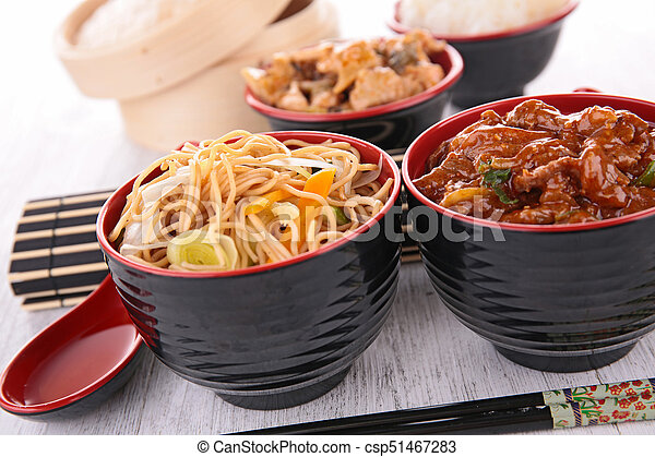assorted asian food - csp51467283