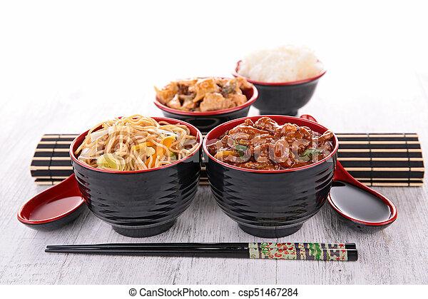 assorted asian food - csp51467284