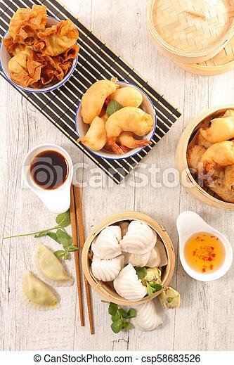 assorted asian food - csp58683526