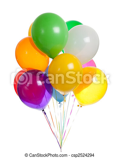 Assorted balloons on a white background - csp2524294