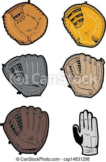 Assorted Baseball Gloves - csp14831298
