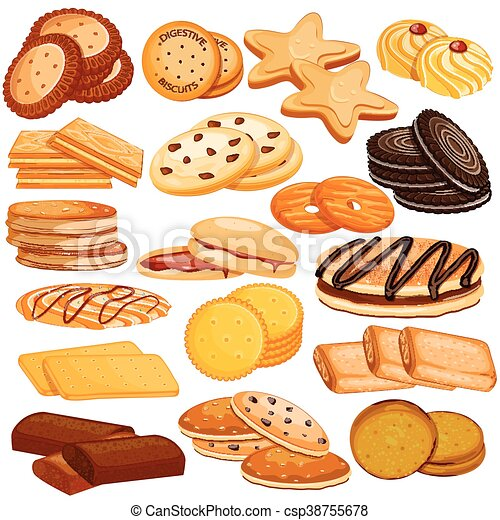 Assorted Biscuit and Cookies Food Collection - csp38755678