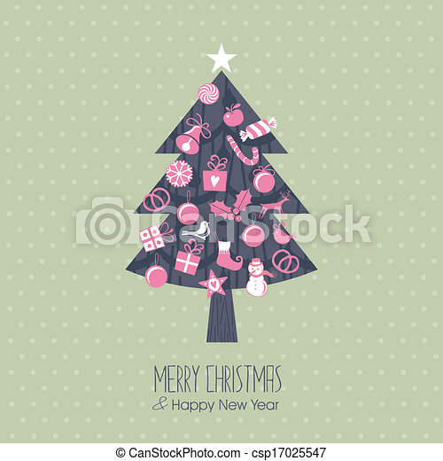 Assorted Christmas Tree - csp17025547