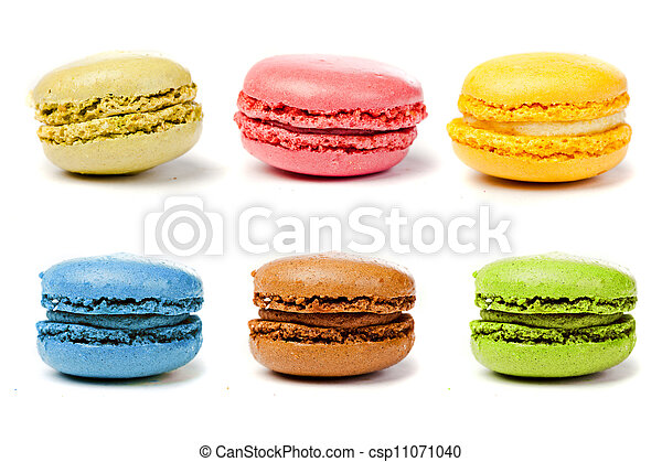assorted colorful french macarons - csp11071040