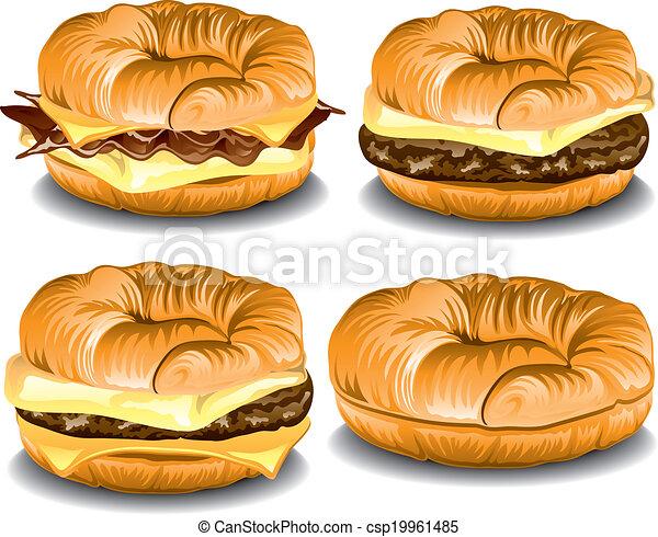 Assorted croissants - csp19961485
