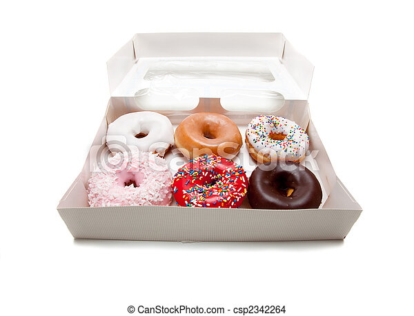Assorted Donuts on white - csp2342264