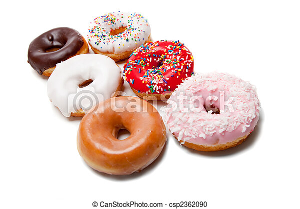 Assorted Donuts on white - csp2362090