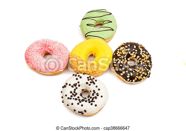 Assorted donuts - csp38666647