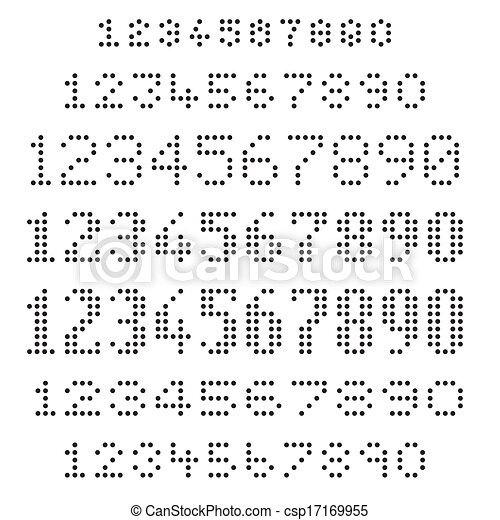 Assorted dotted numbers set - csp17169955
