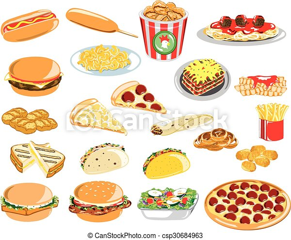 Assorted Fast Food Icons  - csp30684963