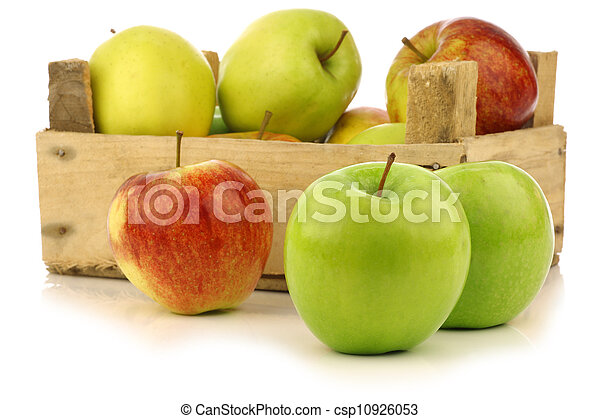 assorted fresh apples - csp10926053