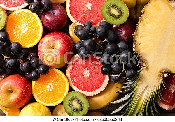 assorted fresh fruit - csp60558283
