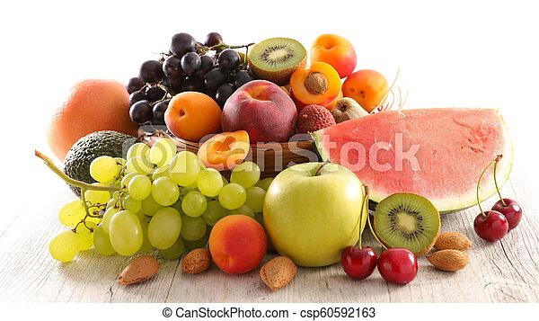 assorted fresh fruit - csp60592163