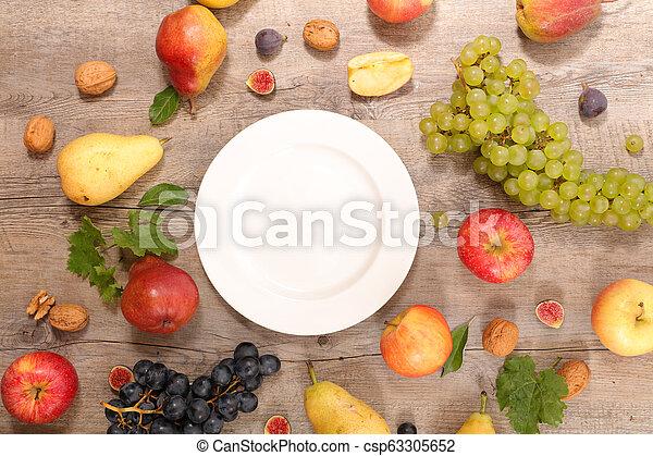 assorted fresh fruit - csp63305652