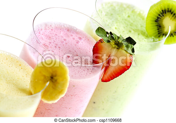 Assorted fruit smoothies - csp1109668
