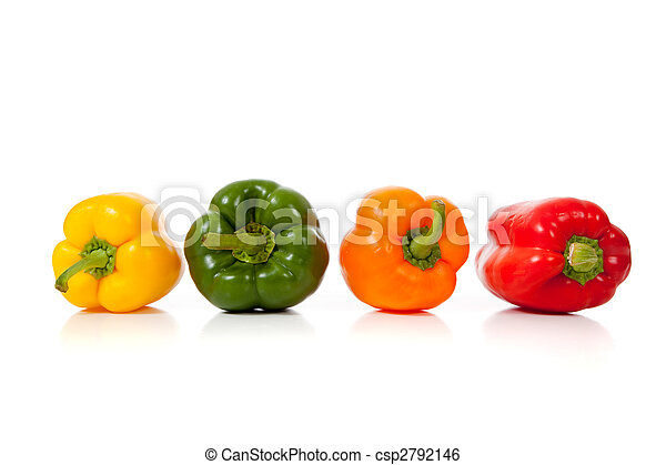 Assorted peppers on white - csp2792146