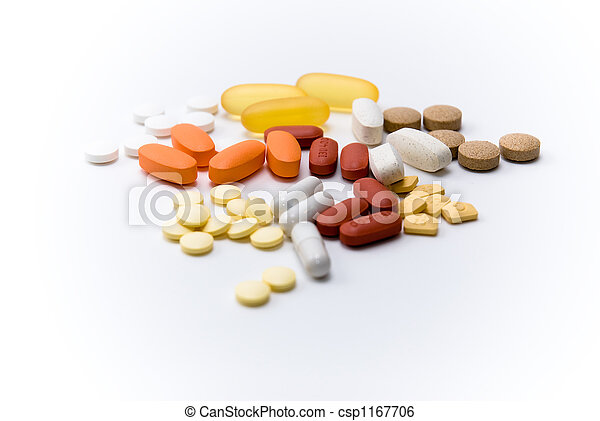 assorted pills and medication - csp1167706