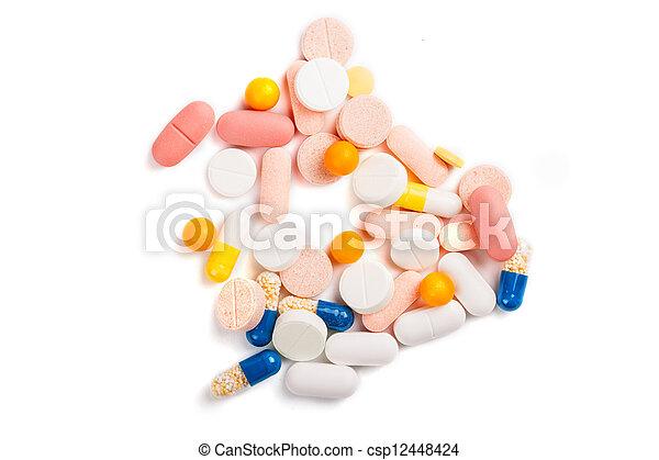 Assorted pills - csp12448424