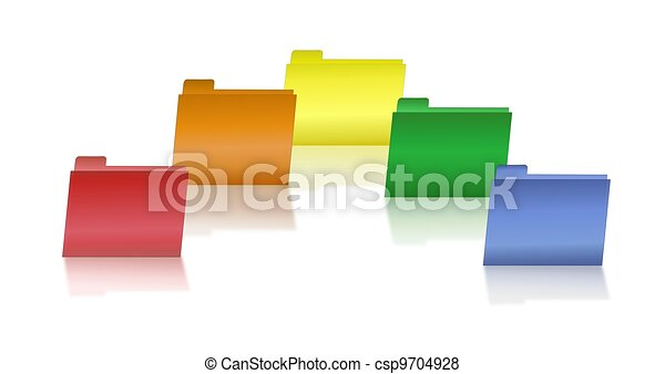 Assorted Primary Colored Folders - csp9704928