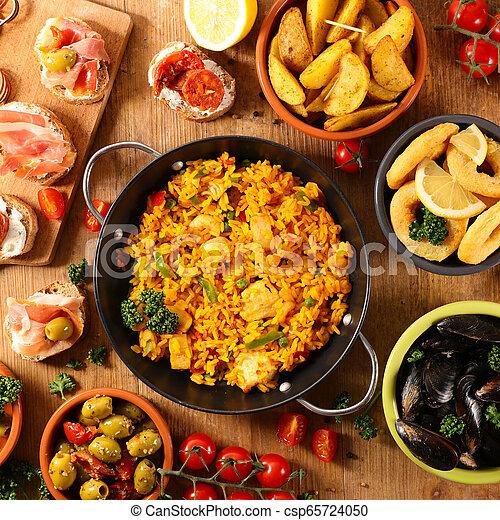 Assorted spanish food.450 x 470 jpeg 94kB