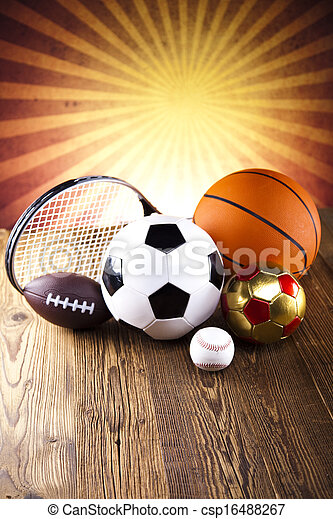Assorted sports equipment - csp16488267