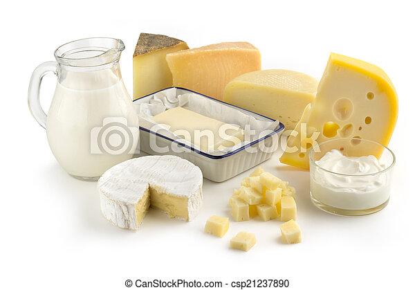 assortiment, producten, melk - csp21237890