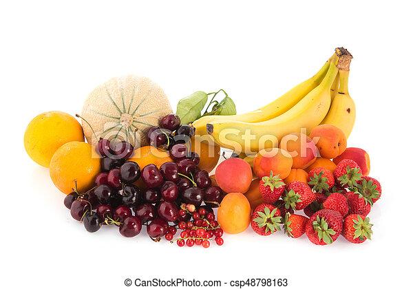 Assortment fresh fruit - csp48798163