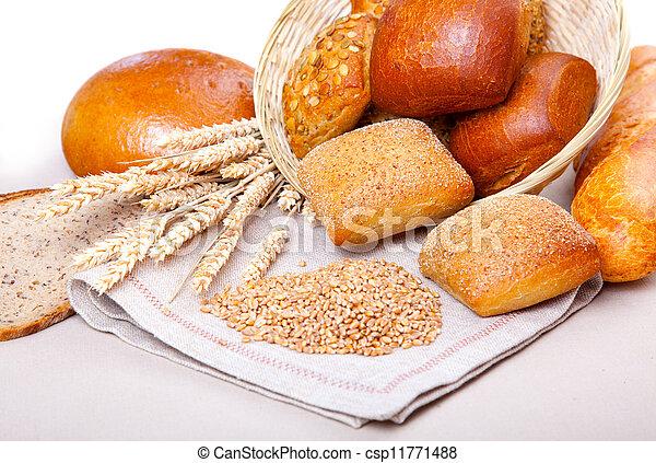 assortment of baked bread - csp11771488
