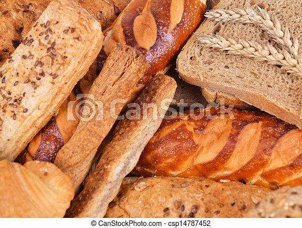 Assortment of baked bread - csp14787452