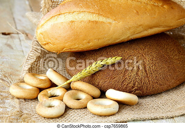 assortment of baked bread - csp7659865