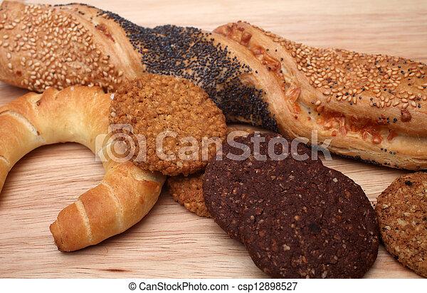 Assortment of baked bread - csp12898527