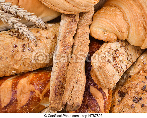 Assortment of baked bread - csp14787823
