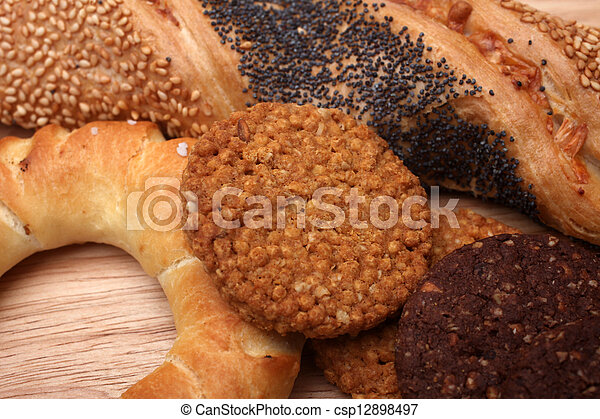 Assortment of baked bread - csp12898497