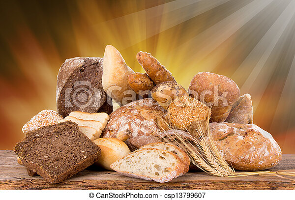 assortment of baked bread - csp13799607
