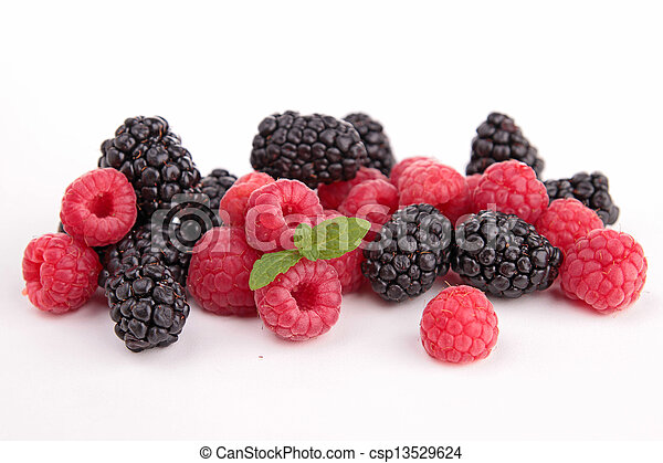 assortment of berries fruits - csp13529624