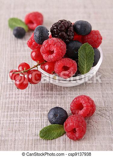 assortment of berries - csp9137938