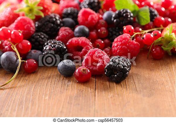 assortment of berries - csp56457503