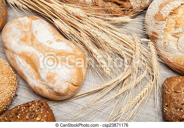 assortment of bread and rolls - csp23871176
