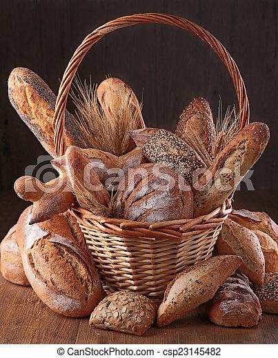 assortment of bread - csp23145482