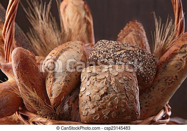 assortment of bread - csp23145483