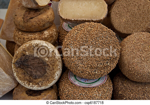 Assortment of cheese - csp6187718