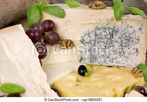 Assortment of cheese - csp18654351